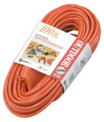 CCI Tri-Source Vinyl Multiple Outlet Cord, 100 ft, 3 Outlets, 1 EA, #42198804