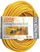 CCI Twist Lock Extension Cord, 100 ft, 1 Outlet, 1 EA, #9209SW8802