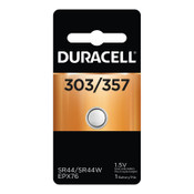 Duracell Watch/Electronic Batteries, Silver Oxide, 1.5 V, 357/303, 6 CT, #DURD303357PK