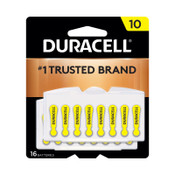 Duracell Button Cell Hearing Aid Battery, #10, 384 CA, #DURDA10B16ZM10