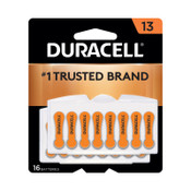 Duracell Button Cell Hearing Aid Battery #13, 384 CA, #DURDA13B16ZM09