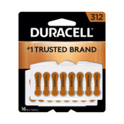 Duracell Button Cell Hearing Aid Battery #312, 576 CA, #DURDA312B16ZM09