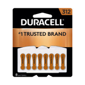 Duracell Button Cell Zinc Air Battery, #312, 288 CA, #DURDA312B8ZM09