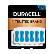 Duracell Button Cell Hearing Aid Battery #675, 288 CA, #DURDA675B12ZMR0