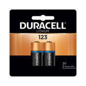 Duracell Lithium Batteries, 3 V, 123, 2 CD, #DURDL123AB2BPK