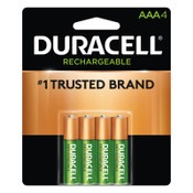 Duracell Pre-Charged Rechargeable Batteries, NiMH, AAA, 1.2 V, 4 EA/PK, 1 PK, #DURNLAA4BCD