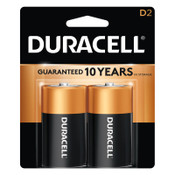 Duracell CopperTop Batteries, DuraLock Power Preserve Alkaline, 1.5 V, D, 2 CD, #DURMN1300B2Z