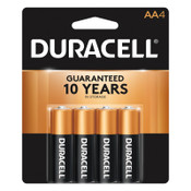 Duracell CopperTop Batteries, DuraLock Power Preserve Alkaline, 1.5 V, AA, 4 CD, #DURMN1500B4Z