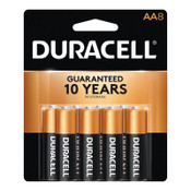 Duracell CopperTop Batteries, DuraLock Power Preserve Alkaline, 1.5 V, AA, 8 CD, #DURMN1500B8Z