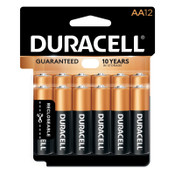 Duracell CopperTop Batteries, DuraLock Power Preserve Alkaline, 1.5 V, AA, 12 PK, #DURMN15RT12Z