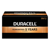 Duracell CopperTop Batteries, DuraLock Power Preserve Alkaline, 9V, 12 PK, #DURMN1604BKD