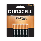 Duracell CopperTop Batteries, DuraLock Power Preserve Alkaline, 1.5 V, AAA, 10 PK, #DURMN2400B10Z