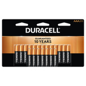 Duracell CopperTop Batteries, DuraLock Power Preserve Alkaline, 1.5 V, AAA, 20 PK, #DURMN2400B20Z