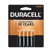 Duracell CopperTop Alkaline Batteries, AAA, Alkaline, 1.5 V, 4 CD, #DURMN2400B4Z