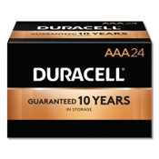 Duracell CopperTop Batteries, DuraLock Power Preserve Alkaline, 1.5 V, AAA, 24 PK, #DURMN2400BKD