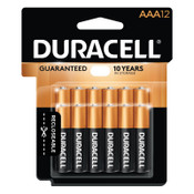Duracell CopperTop Batteries, DuraLock Power Preserve Alkaline, 1.5 V, AAA, 12 PK, #DURMN24RT12Z
