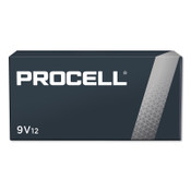 Duracell Procell Batteries, Non-Rechargeable Dry Cell Alkaline, 9V, 12 PK, #DURPC1604BKD