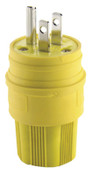 Cooper Wiring Devices 15 AMP YLW PLUG INDUSTRIAL WATERTIGHT ELASTOMERI, 1 EA