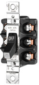 Cooper Wiring Devices MAN CONT 30A 600VAC 3P ST FRONTWIRE BK, 1 EA
