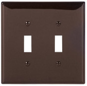 Cooper Wiring Devices WALLPLATE 2G TOGGLE POLYMID BR, 20 EA
