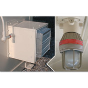 Justrite Explosion Proof Interior Light and Fan for Safety Locker, 1 EA, #915501