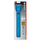 MAG-Lite LED D-Cell Flashlight, 3 D, Blue, 1 EA, #ST3D116