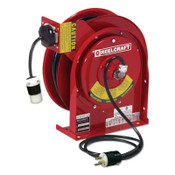 Reelcraft 12/3 x 45ft Compact Power Cord Reel, 20A Single GFCI, 1 EA, #L45451233A
