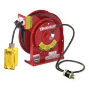 REELCRAFT 12/3 x 45ft Compact Power Cord Reel, 20A Duplex GFCI, 1 EA, #L45451237A