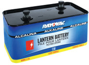 Rayovac Lantern Batteries, Industrial Alkaline, 7.5 V, 4 EA, #803C