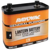 Rayovac Lantern Batteries, General Purpose, 12V, 6 EA, #926C
