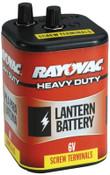 Rayovac Lantern Batteries, Heavy Duty, 6V, 4 CS, #945R4C
