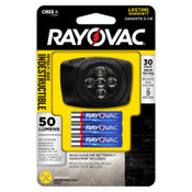 RAYOVAC 3AAA LED Headlight, 50 lm, Black, 1 EA, #DIYHL3AAABXTB
