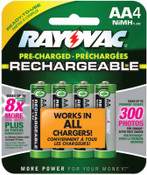 Rayovac Platinum Pre-Charged Rechargeable Batteries, NiMH, AA, 6 EA, #LD7154OPGEND