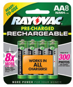 Rayovac Platinum Pre-Charged Rechargeable Batteries, NiMH, AA, 1 EA, #LD7158OPGEND