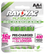 Rayovac Platinum Pre-Charged Rechargeable Batteries, NiMH, AA, 1 Pk, #PL7154GENB