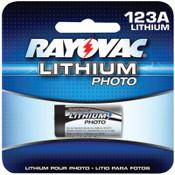 Rayovac Photo Batteries, Lithium, 3V, 123A, 1 EA, #RL123A1G