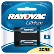 Rayovac Lithium Photo Batteries, 2CR5, 6V, 1 EA, #RL2CR51G