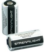 Streamlight CR123A Lithium Batteries, 3 V, 2 Pk., 1 PK, #85175