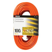 Woods Wire Outdoor Round Vinyl Extension Cord, 100 ft, 1 EA