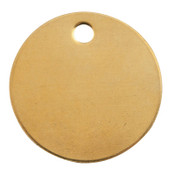 C.H. Hanson Brass Tags, 18 gauge, 1 1/2 in Diameter, 3/16 in Hole, Round, 100/BAG, #1098B