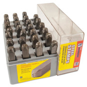 C.H. Hanson Heavy Duty Steel Hand Stamp Sets, 1/2 in, A thru Z, 1/SET