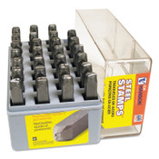 C.H. Hanson Low Stress Full Character Steel Hand Stamp Sets, 7/16 in, A thru Z, 1/SET