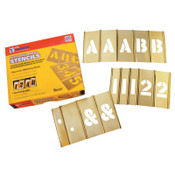 C.H. Hanson Brass Stencil Letter & Number Sets, Brass, 2 in, 1/ST