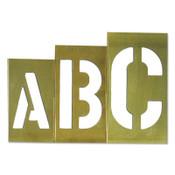 C.H. Hanson Brass Stencil Gothic Style Letter Sets, Brass, 12 in, 1/SET