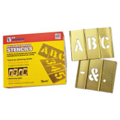 C.H. Hanson Brass Stencil Letter Sets, Brass, 5 in, 1/SET