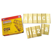 C.H. Hanson Brass Stencil Letter & Number Sets, Brass, 4 in, 1/SET