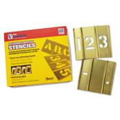 C.H. Hanson 15 Piece Single Number Sets, Brass, 2 in, 1/SET