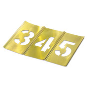 C.H. Hanson Brass Stencil Gothic Style Number Sets, Brass, 12 in, 1/SET