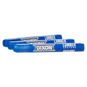 Dixon Ticonderoga Lumber Crayons, 1/2 in X 4 1/2 in, Blue, 12/DOZ, #52100