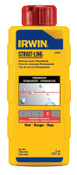Stanley Products Permanent Staining Marking Chalks, 8 oz, Permanent Red, 1/BTL, #64902